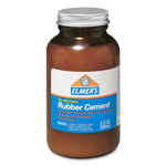 Elmer's Rubber Cement with Brush, Acid Free, Photo Safe, 8 Oz, Clear