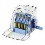 "Royal Sovereign International Manual Coin Sorter, 1-Row, 7-19/64""x9-7/64""x8-19/64, Blue"