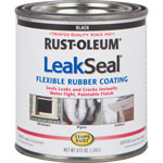 Rust-Oleum Rubber Coating, Flexible, Paintable Finish, 8 fl. oz., Black