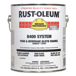 Rust-Oleum 8400 System Food and Beverage Alkyd Enamel, 1 gal, Dairy White, 2/Carton