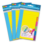 Redi-Tag/B. Thomas Enterprises Divider Sticky Notes with Tabs, Assorted Colors, 60 Sheets/Set, 3 Sets/Box