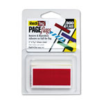 Redi-Tag/B. Thomas Enterprises Small Rectangular Removable/Reusable Page Flags, 1x3/16, Red, 300/Pack