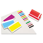 Redi-Tag/B. Thomas Enterprises Small Rectangular Removable/Reusable Page Flags, 1x3/16, Assorted Colors, 240/Pack