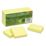 Rediform 100% Recycled Notes, 1 1/2 x 2, Yellow, 12 100-Sheet Pads/Pack