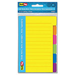 "Redi-Tag/B. Thomas Enterprises Divider Notes with Tabs, Ruled, 4"" x 6"", Assorted"