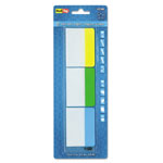 Redi-Tag/B. Thomas Enterprises Write-On Self-Stick Index Tabs/Flags, Green, Blue and Yellow