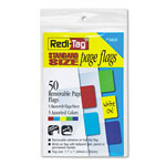Redi-Tag/B. Thomas Enterprises Semi Transparent Standard Rectangular Page Flags, 1 11/16 x 1, Assorted, 50/Pack