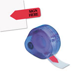 Redi-Tag/B. Thomas Enterprises Arrow Message Flags for Right Side, SIGN HERE, Red, 120/Refillable Dispenser