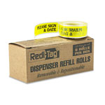 Redi-Tag/B. Thomas Enterprises PLEASE SIGN & DATE Yellow Arrow Flag Dispenser Refill, 6 120 Flag Rolls/Box