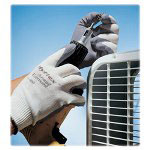 R3 Safety Gloves, Foam coating, Large, Gray/White
