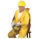 R3 Safety Rainsuit, 3 Piece, 4-Xtra Large, Yellow