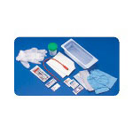 Rusch Urethral Catheter Proc. Tray, 14 Fr, Red Rubber