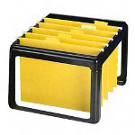 Rubbermaid Hot Rack® Personal File, Letter/Legal Hanging Folders, 13wx15 1/2dx10h, Black