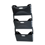 Rubbermaid Three Pocket Wall File Set, Legal Size, Black