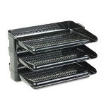 Rubbermaid Hot Stack® Starter Set of Three Side Load Trays, Black