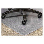 Lorell PlushMat Chair Mat, 36x48, 20x12 Lip