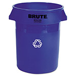 Rubbermaid Blue Recycling Container, 32 Gallon