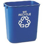 Rubbermaid Blue Recycling Container, 3 Gallon