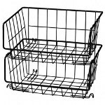Shelf Savers™ Stackable Small Wire Basket, 11 3/4w x 8d x 5 1/2h, Black