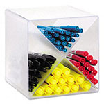 Rubbermaid Cube Organizer With x Divider, Plastic, 6W x 6D x 6H, Clear