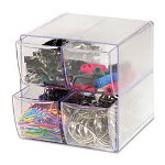 Plastic Drawer Cube Supplies Organizer, 4 Drawer, Clear