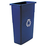 Rubbermaid Blue Recycling Wastebasket, 23 Gallon