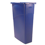 Rubbermaid Slim Jim™ Plastic Indoor Trash Can, 23 Gallon, Blue