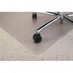 Diamond BerberMat Chair Mat for Standard Pile Carpets, 46x60, Wide 25x12 Lip