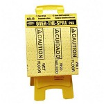"Rubbermaid Over The Spill Caution Pad Tablet,14""x15 3/4"",20 Pads,Yellow"