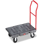 Rubbermaid Heavy-Duty Platform Truck Cart, 1000lb Capacity, 24 x 48 Platform, Dark Gray