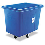 Rubbermaid Blue Recycling Bin, 500 lbs Gallon