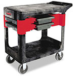 Rubbermaid Trades Cart, 2-Shelf, 330lb Capacity, 19-1/4 x 38 x 33-3/8, Black