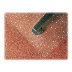 EconomyMat Economical Chair Mat for Low Pile Carpets, 36x48, 20x12 Lip, Clear