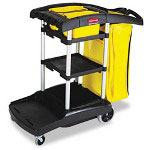 Rubbermaid High Capacity Janitor Cart, Black