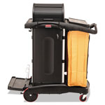 Rubbermaid High Security Janitor Cart for Healthcare Settings, Black