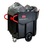 Rubbermaid Mega Plastic Wheeled Trash Can, 120 Gallon, Black