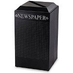 United Receptacle Black Recycling Bin, 29 Gallon