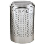 United Receptacle Silver Recycling Bin, 26 Gallon