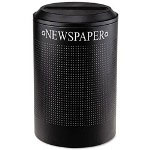 United Receptacle Black Recycling Bin, 26 Gallon
