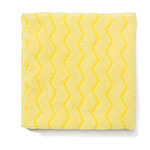 Rubbermaid Microfiber Cleaning Cloth, Yellow, Pack of 12