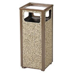 Rubbermaid Steel Outdoor Sand Urn, 12 Gallon, Sand