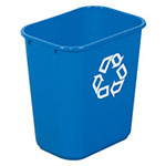 Rubbermaid Recycling Container, 28 Qt, Blue