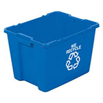 Rubbermaid Recycling Bin, 12.5 Gallon Capacity, Blue