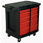 "Rubbermaid 33"""" x 20"" x 33"" Mobile Work Center, 5 Drawer"