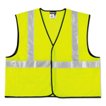 MCR Safety Class 2 Safety Vest, Lime Green w/Silver Stripe, Polyester, 3XL