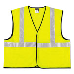 MCR Safety Class 2 Safety Vest, Lime Green w/Silver Stripe, Polyester, 4XL