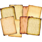 "Roylco Antiqfue Paper, 8-1/2"" x 11"", 32 Sheet/PK, Assorted"