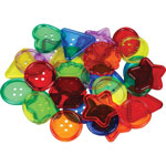 "Roylco See-Through Big Buttons, 2"" x 2"", 30/PK, Assorted"