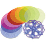 Roylco Paper Tissue Circles, 480 Pcs, Assorted
