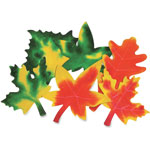 "Roylco Colour Diffusing Leaves, 9"" x 7"", 80/PK, White"